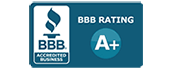Image of the better business bureau logo where Cambridge has an A+ rating.