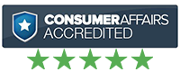 Image of the Consumer affairs logo. Click to read consumer reviews about our services
