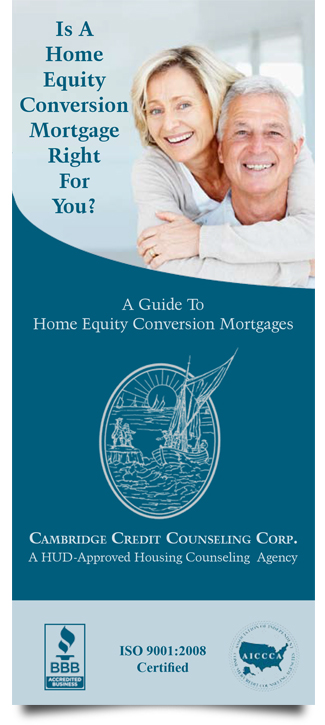 Image of reverse mortgage counseling brochure. Click to download.