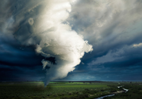 Image of a tornado.  Click to learn more about preparing for a tornado.