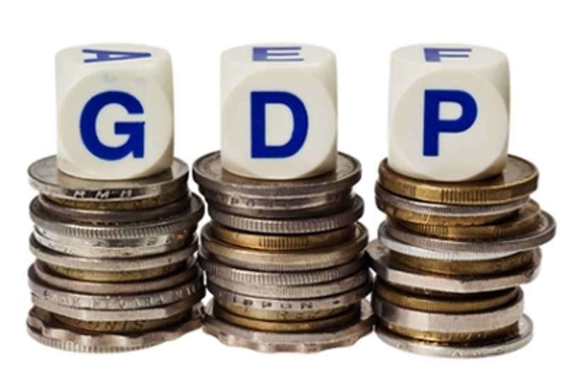 gross domestic product The value of a country's overall output of goods and services (typically during one fiscal year) at market prices, excluding net income from abroad gross domestic product (gdp) can be estimated in three ways which, in theory, should yield identical figures.
